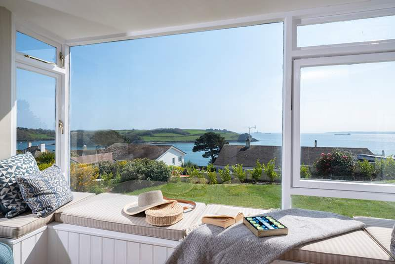 The amazing view from the bay window.