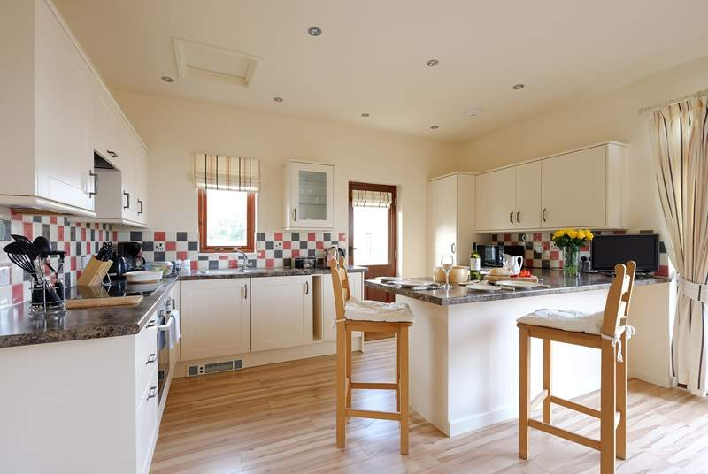 The kitchen in the open plan living-room.