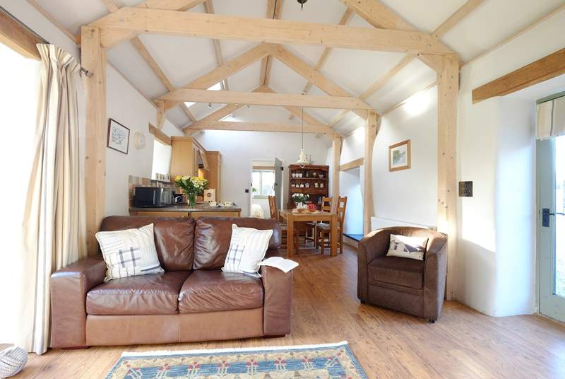 The open plan living-room.
