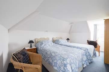 The first floor twin bedroom.