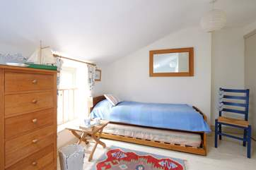 An extra child can be accommodated in the single bed in Bedroom 3.