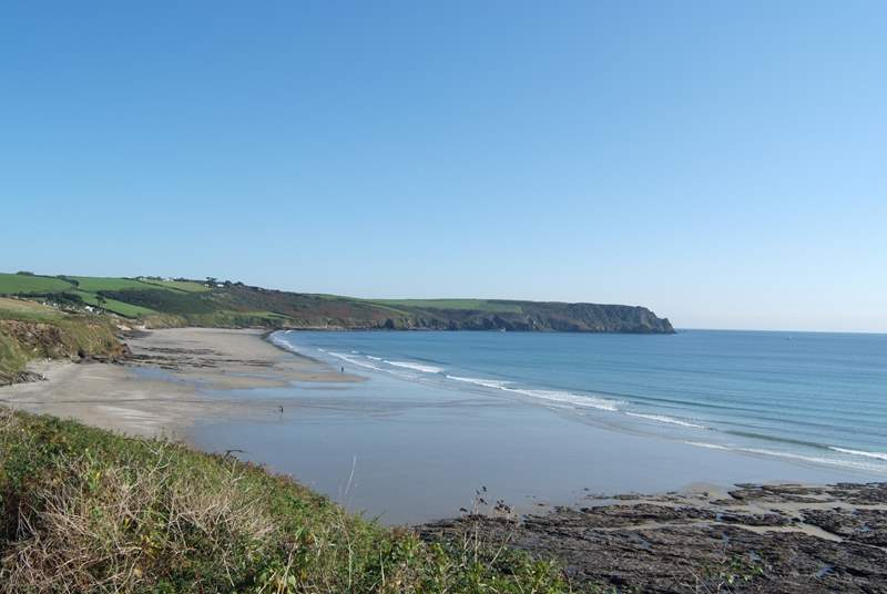 Enjoy a coastal walk from Phoebe's to Pendower and Carne beach.