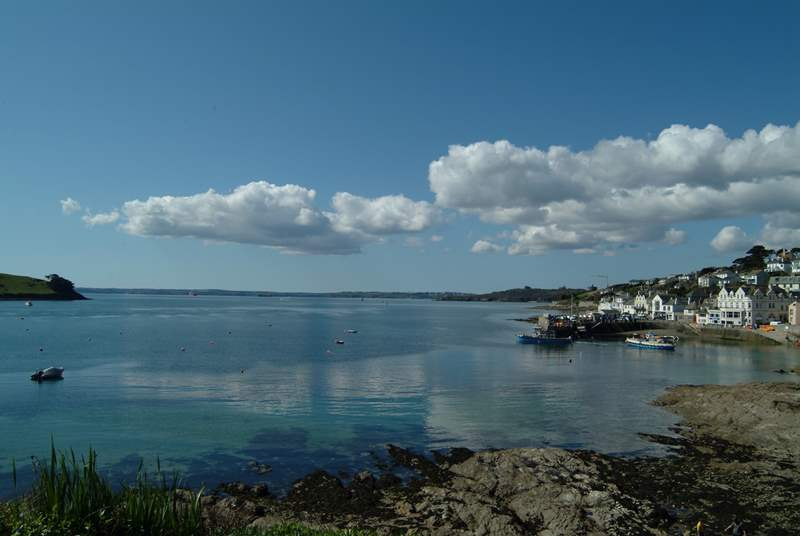 Catch the ferry from St.Mawes to Falmouth.
