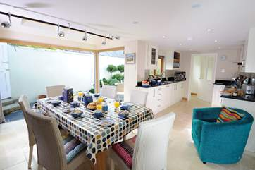 The kitchen/dining-room.
