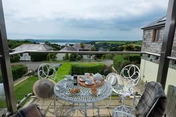 The Balcony enjoys views over the carrick roads.