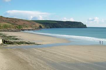 The lovely stretch of sand at Carne Beach is only a short drive away.