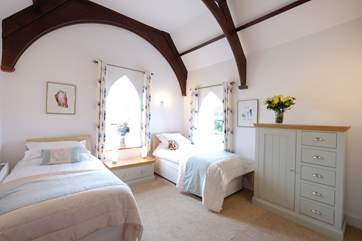 Lovely bedroom with twin beds.