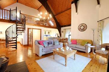 The open plan living-room is spacious.