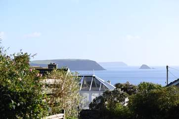 Lovely sea views to Gull Rock and Gerrans Bay