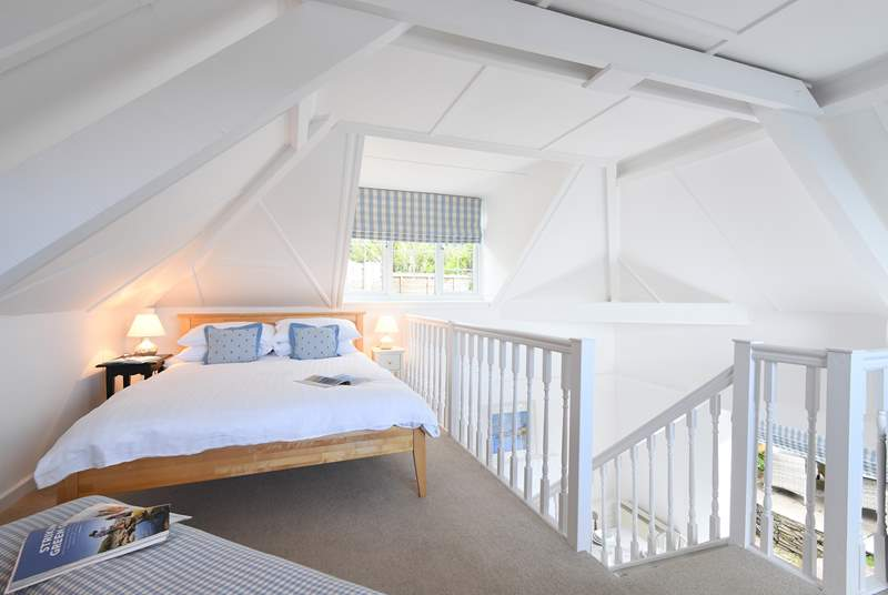 The beautiful galleried double bedroom