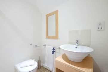 The en suite shower-room to Bedroom 3.