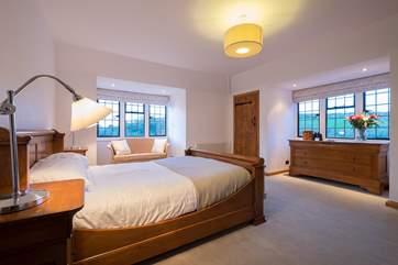 A dual-aspect bedroom.