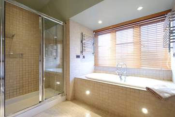 Luxuriate in the bath or large shower.