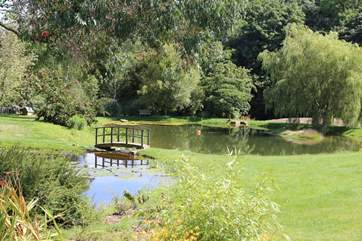 A view of the lake in the grounds (take care with toddlers).