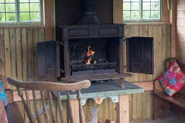 With a huge old wood-burner to keep you warm on chillier nights.