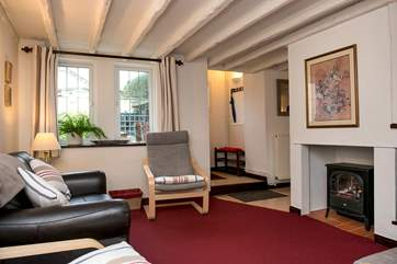 The comfy lounge is the ideal place to relax after a day exploring the north Cornish coast