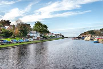 Pop into Bude to walk or cycle along the canel or have some fun messing about on the water