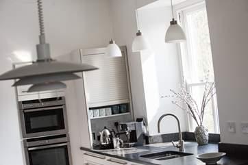 The contemporary kitchen-area.