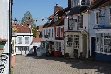 Lymington old town, leading down to the quay, with some excellent restaurants and pubs on the way.