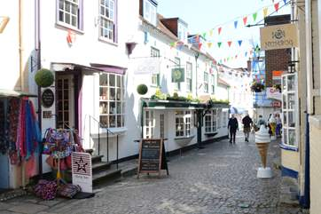 The small historic street down to the quay has some quirky shops and good food.