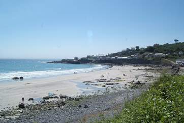 The lovely bay at Coverack looking across from North Corner towards the harbour.
