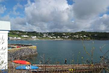 The pretty harbour at Coverack, watch the fishing boats come and go.