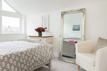 This lovely room also has a large walk in wardrobe.