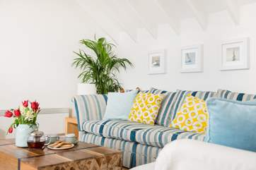 Beautiful furnishings make this a very comfortable and relaxing space.