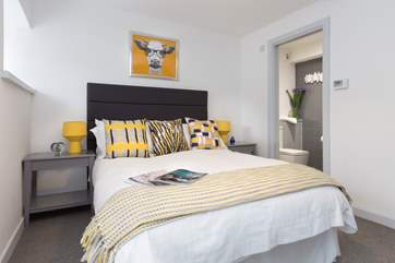This is the ground floor double bedroom. Another very individually styled room