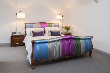 This is the master bedroom with its sumptuous super-king sized bed.
