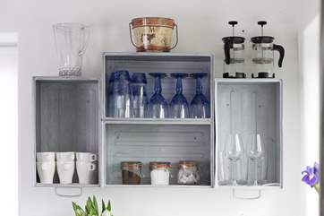 Even the wall units in the kitchen are an ingenious and unique design.