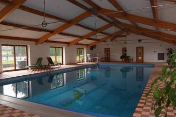 The pool offers a choice of sitting areas so that you can really enjoy the experience.  There are proper changing rooms with showers and a music system too.