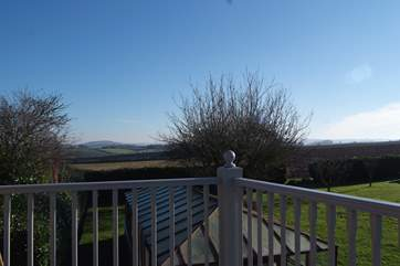 This is the panoramic view from the balcony - a great place to sit and relax with a coffee or a glass of wine!