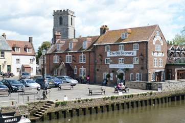 A ten minute walk from Northgate brings you to the town quay, where you can watch the world go by.