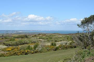 Studland peninsula, fabulous for walking and mountain biking, with views across to Bournemouth bay.