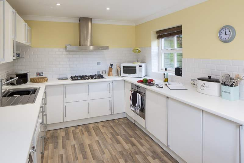 The modern kitchen/diner, plenty of space to cook up a feast.