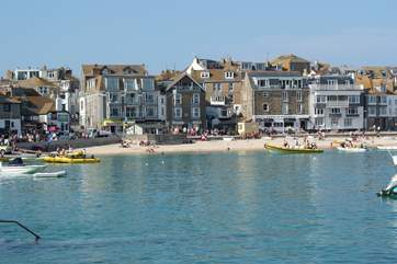 St Ives approximately nine miles away.