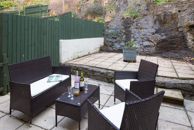 What a sun-trap this delightful patio is. Perfect for a spot of dining al fresco.