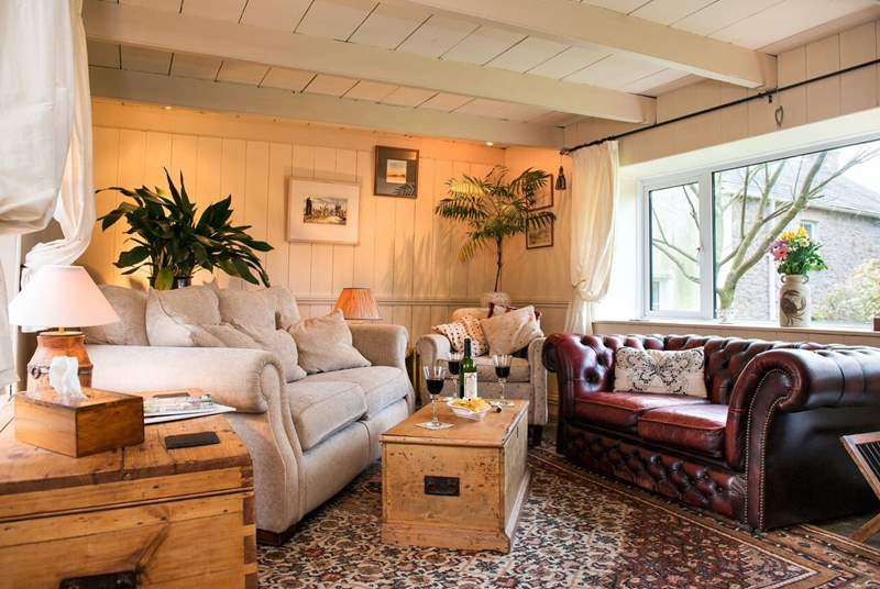 The lounge is simply gorgeous and a great place to unwind after a day of exploring Cornwall's north Coast.