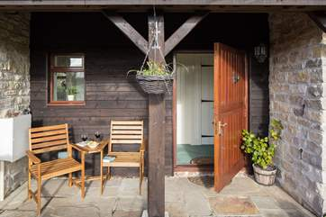 The front door is a stable-door and the south-facing patio and terrace are a sun-trap.
