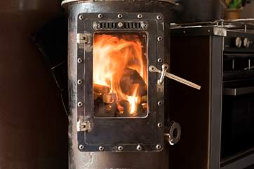 The wood-burner will keep you very toasty in the cooler months.