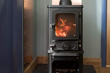 The little wood-burner will keep you very cosy in the cooler months.