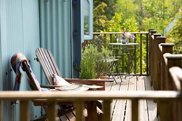 Grab a good book and sit out in the sunshine, taking in the fresh air - bliss!