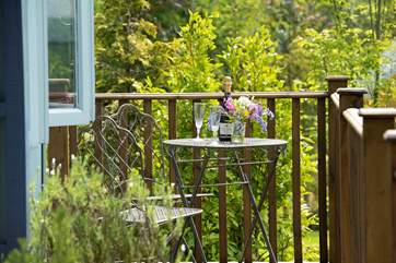 You have your own little patio table and chairs, all in keeping with the Tabernacle's elegance.