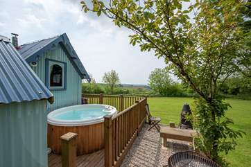 Can it get any better than this? Your own private hot tub.