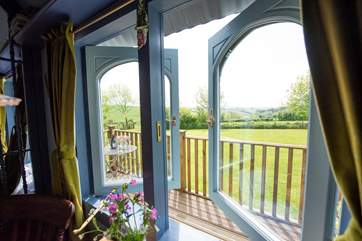 The stunning views can be enjoyed from inside and out.