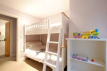 Bedroom 2 has bunk-beds.