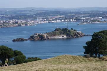 Looking across Plymouth Sound from Mount Edgcumbe.