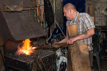 The blacksmith has a forge in the Barrow Centre.