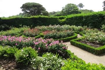 Formal gardens.